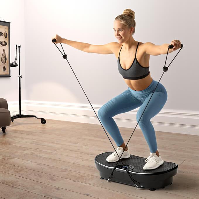 Sportlerin-trainiert-mit-VP250-vibrationsplatte